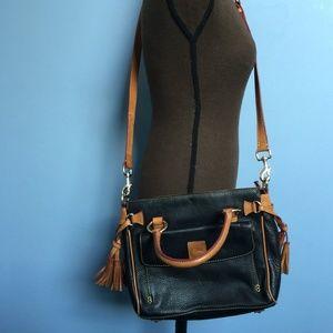 Dooney & Bourke Convertible Pebble Leather Satchel